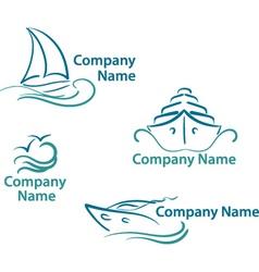 Yachting logo vector