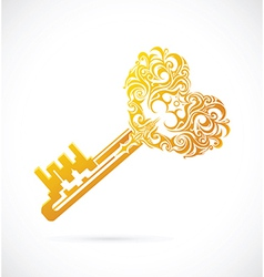 Key with heart shape vector