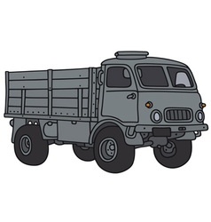 Old military lorry vector