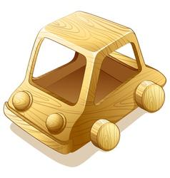 Wooden toy vector