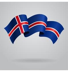 Icelandic waving flag vector