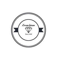 Diamond badge theme vector