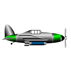 Ww2 fighter on white vector