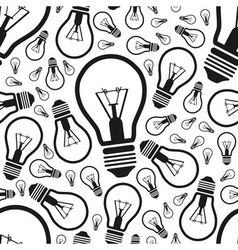 Lightbulb seamless pattern vector