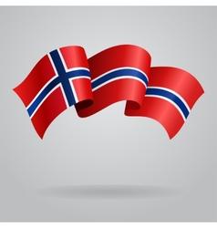 Norwegian waving flag vector
