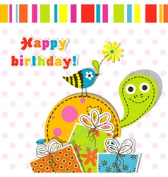 Children birthday scrapbook card vector