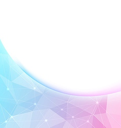 Bright crystal shine border background template vector