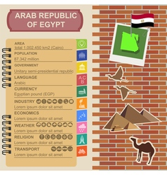 Arab republic egypt infographics statistical data vector
