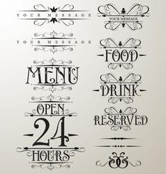 Decorative text design element vector