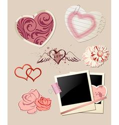Valentines day scrapbook vector
