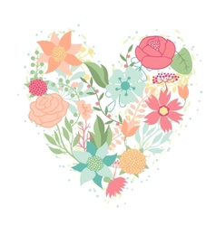 Invitation card with pretty stylized flowers in vector