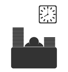 Business office fizzle out worker flat icon vector