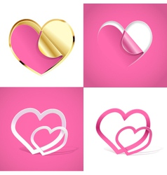Creative hearts vector