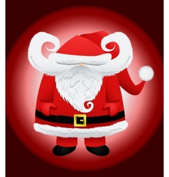 Funny cartoon caricature santa claus vector