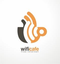 Creative logo design template for cafe vector