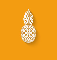Pineapple tropical fruit symbol vector