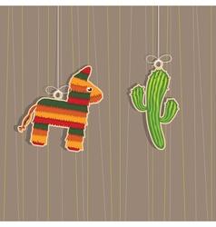 Mexican decorations vector