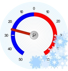 Thermometer winter vector