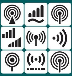 Signal icons set vector