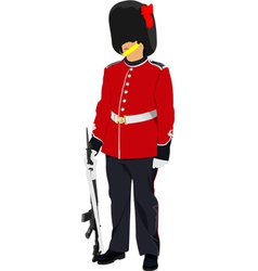 Image of beefeater isolated on white vector
