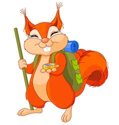 Squirrel traveler vector