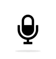 Microphone icon on white background vector