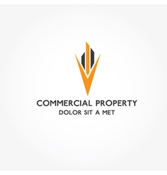 Real estate commercial property design template vector