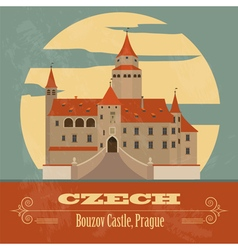 Czech landmarks vector