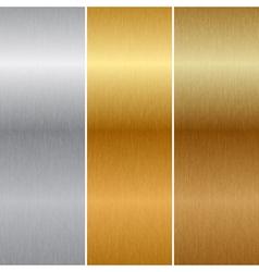 Metal textures vector