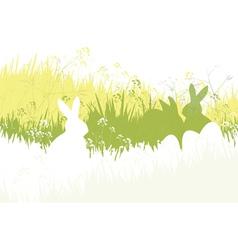 Spring easter background vector