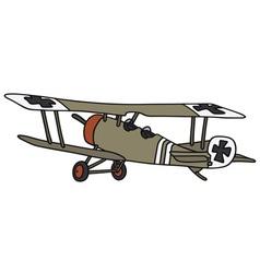 Old germany militarybiplane vector