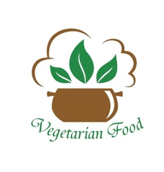 Vegetarian food icon vector