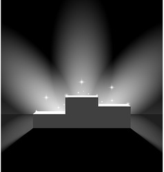 Pedestal with flares on the stage vector