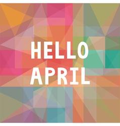Hello april card1 vector