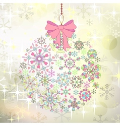 Christmas card with ball of colorful stylized vector