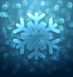 Glass snowflake vector