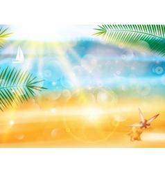 Beautiful seaside view poster vector