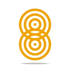 Logo abstract infinity corporation vector