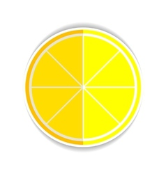 Lemon orange fruit flat icon yellow ripe lemon vector