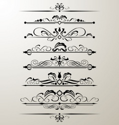 Decorative page design element vector