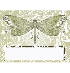 Dragonfly sketch vector