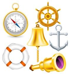 Nautical elements vector