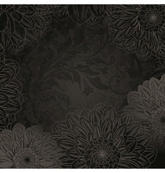 Antique floral background vector