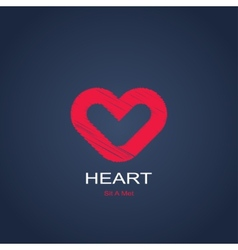 Symbol of heart vector