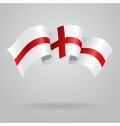 English waving flag vector