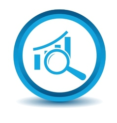 Blue graph scan icon vector