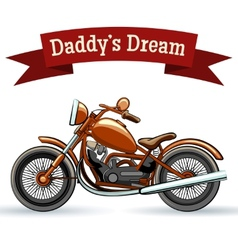 Colored retro motorcycle design vector