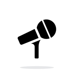 Microphone on stand icon on white background vector