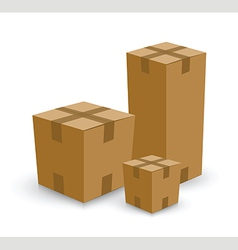 Cardboard box set vector