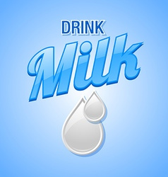 Drink milk template vector